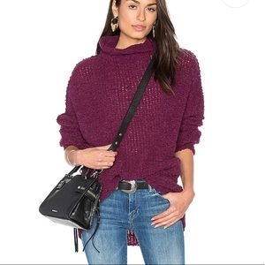 FREE PEOPLE Shes all that Knit Sweater in Purple